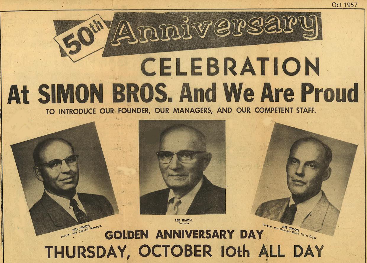 Simon Bros Roofing Company 50th Anniversary